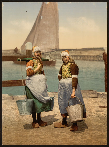 Native-girls-wearing-wooden-shoes.-Marken-Island-around-1890-lrg
